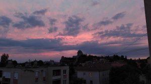 Augusztusi naplemente Esztergomban