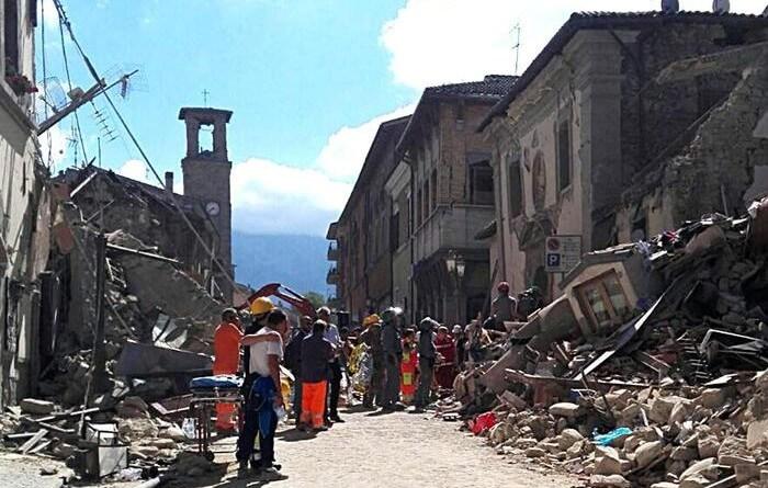 Arquata del Tronto - földrengés Olaszországban