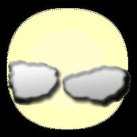 Gyengén felhős égbolt