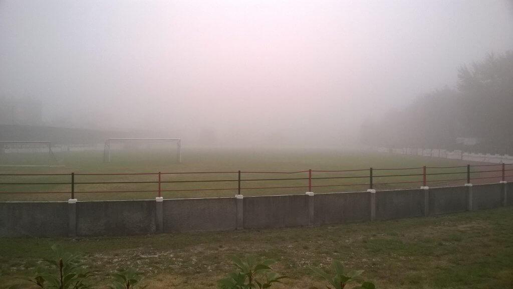 Ködös reggel Dorogon