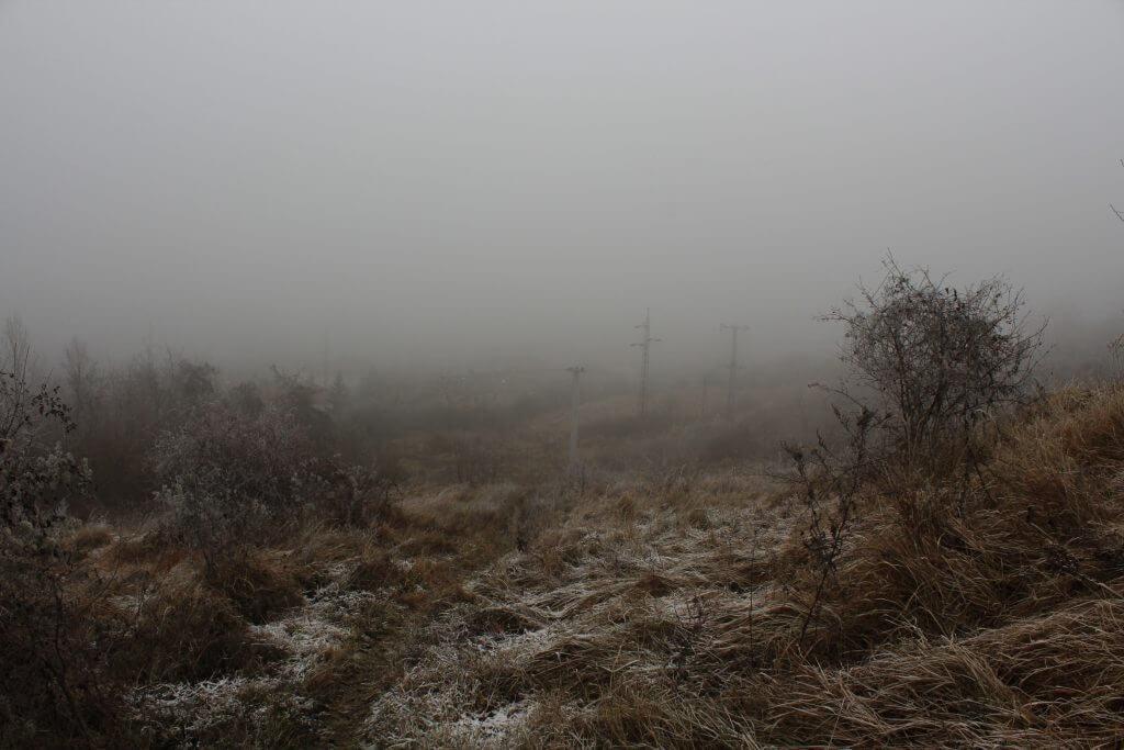 Ködös, fagyos idő Dorogon