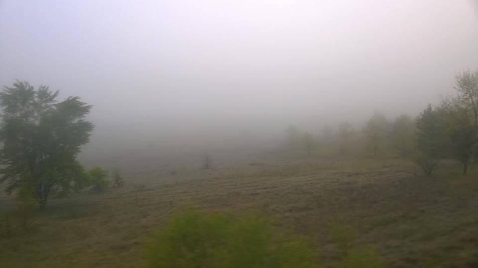 Köd májusban Dorog-Esztergom térségében