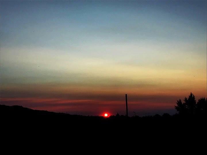 Augusztusi naplemente Dorogon