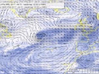 Északnak sodródva nagyon sok nedvességet szállít a nyugati szelek övébe
