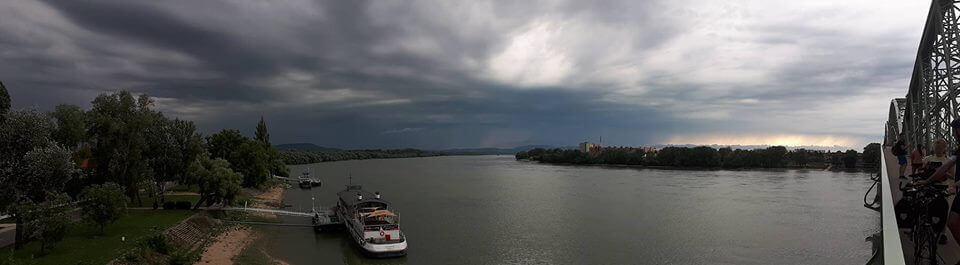 Zivatar érkezett a magyar-szlovák határra augusztus 6-án