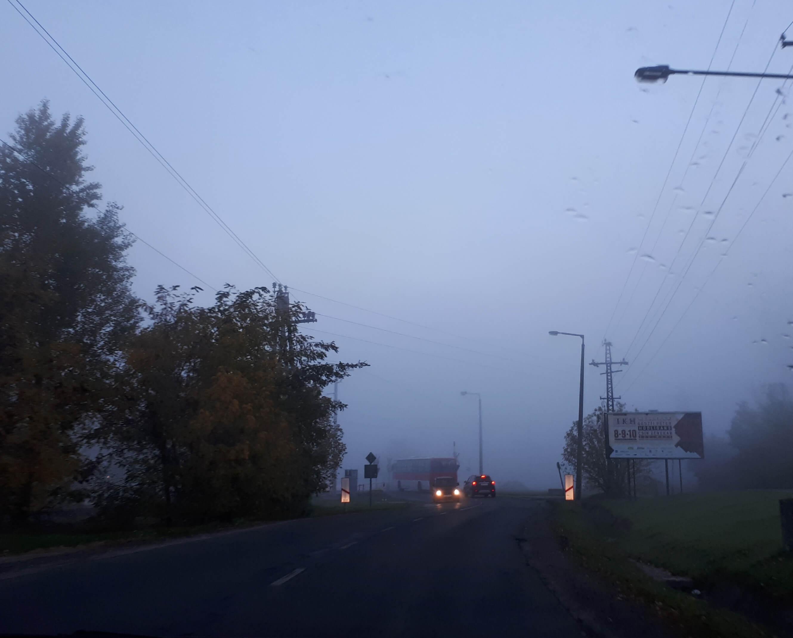 Ködben a reptér