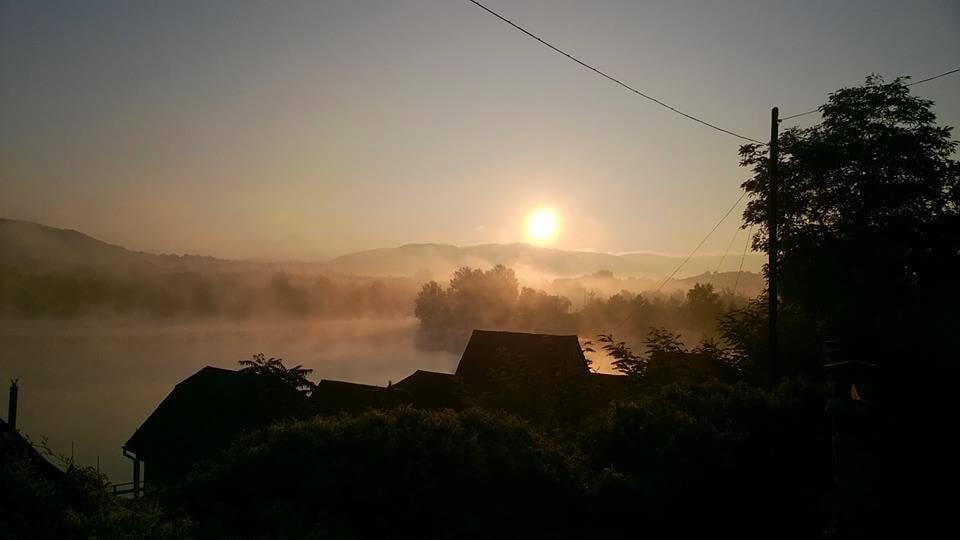 Ködben a Palatinus-tó