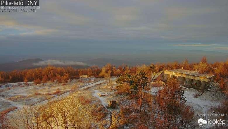 Pilis-tetőn is havazott