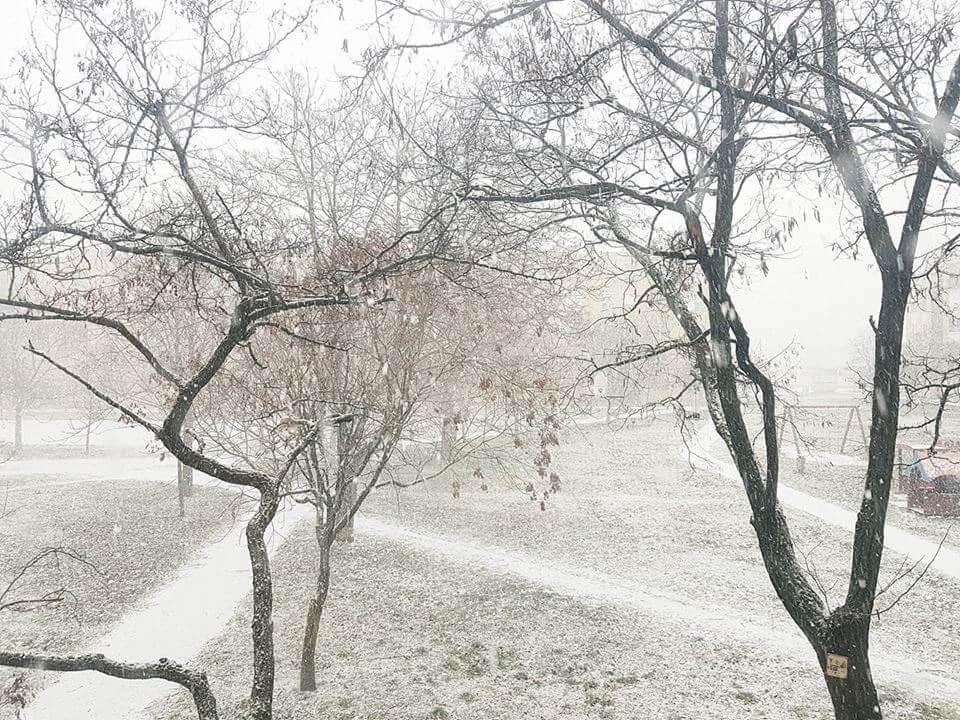 Havazás a dorogi Zsigmondy Vilmos lakótelepről nézve
